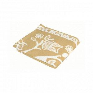 Детское одеяло Совушки цвет бежевый Теплое (100х140 см)