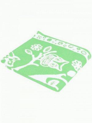 Детское одеяло Совушки цвет зеленый Теплое (100х140 см)