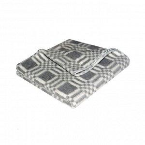 Детское одеяло Клетка цвет серый Теплое (100х140 см)