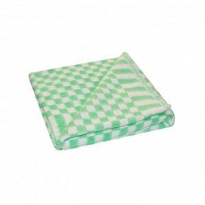 Детское одеяло Мелкая клетка цвет зеленый Теплое (100х140 см)