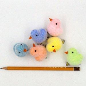 Цыплята на клипе 4 см набор 6 шт HS-15-3