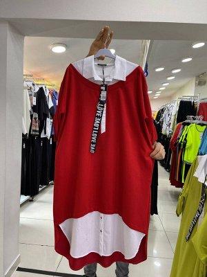 Платье комбенированное DARKWIN