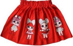 Юбка для девочки красный