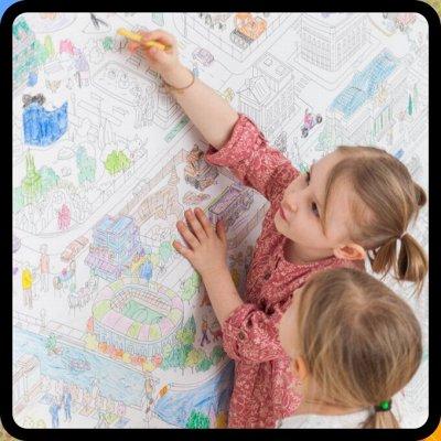 Вкладыши, геоборды, мозайки — Большие раскраски — Для творчества