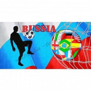 Полотенце банное вафельное 90*150 Футбол Россия