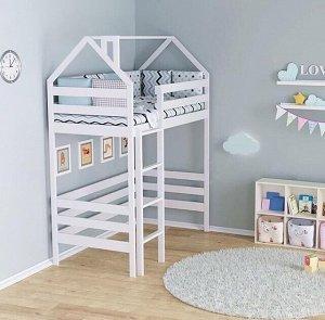 Кровать Чердак-домик 180*90 белый