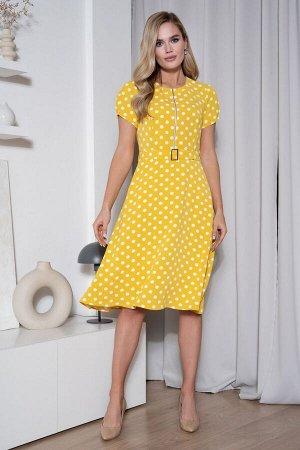 Платье Платье URS 20-355/1  Состав: Вискоза-60%; ПЭ-35%; Спандекс-5%; Сезон: Весна-Лето Рост: 164  Платье в горошек всегда актуально и модно. Горошек - это всегда особенное проявление женственности,