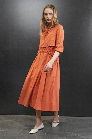 Платье Платье NOCHE MIO 1.270  Состав: ПЭ-23%; Спандекс-3%; Хлопок-74%; Сезон: Весна-Лето Рост: 164  Оригинальное платье для тех, кто ценит стиль и удобство, - подойдёт каждой, независимо от возраста