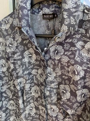 Рубашка Рубашка NOCHE MIO 6.294  Состав: Хлопок-98%; Эластан-2%; Сезон: Весна-Лето Рост: 164  Рубашка из тонкого денима приталенного силуэта с цельнокроенным рукавом. Застёжка на потайные пуговицы. М