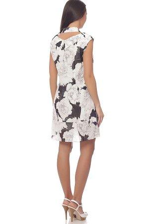 Платье Платье NOCHE MIO 1.071 COCONUT  Сезон: Весна Рост: 164  Платье из тонкого принтованного жаржета. Прямого слегка расширенного к низу силуэта с притачным воланом. На подкладке х\ш. Застежка на п