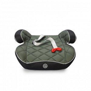 Автокресло-бустер Happy Baby RIDER, 15-36 кг, цвет темно-зеленый