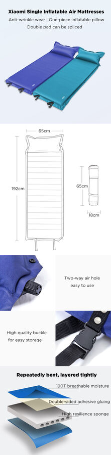 Самонадувающийся коврик (матрац) Xiaomi Zaofeng 190T
