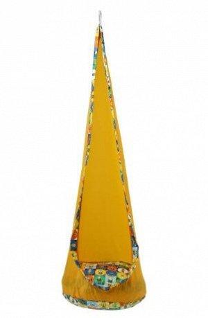 Детское подвесное кресло Кокон, желтый