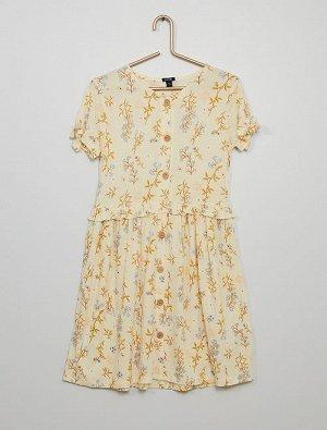 Платье из гофрированного трикотажа