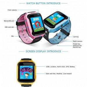 Q528 Цветной сенсорный экран. За счет этого ребенку интуитивно понятен интерфейс часов, часы выглядят стильно и модно (что очень важно для детей школьного возраста и для подростков) SIM- карта устанав