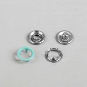 Кнопки рубашечные, d = 9,5 мм, 100 шт, цвет мятный