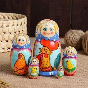 """Матрешка 5-ти кукольная """"Петушок"""", 15 см, ручная роспись"""