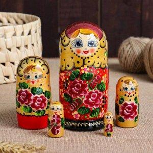"""Матрешка 5-ти кукольная """"Лариса"""" узоры, 15 см, ручная роспись"""