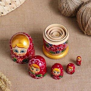 """Матрешка 5-ти кукольная """"Нелли"""" узоры, 15 см, ручная роспись"""