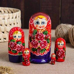 """Матрешка 5-ти кукольная """"Тая"""" узоры, 15 см, ручная роспись"""