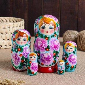 """Матрешка 5-ти кукольная """"Евгения""""розы, 17-18см"""