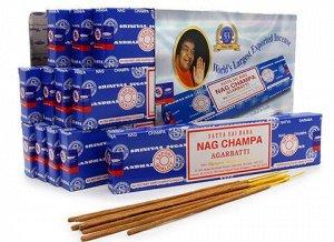 Ароматические палочки с маркировкой: SATYA Nag Champa 15 г
