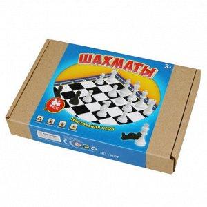 Игра настольная шахматы, в компл. игровое поле 18,5х18,5 см, шахматы, кор.