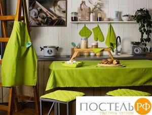 """Набор для кухни """"Цвет Эмоций"""" 7 предметов (прихватка-рукавичка, прихватка, текстильная ваза, подставка под горячее, фартук, полотенце вафельное - 2 шт), 100 % хлопок, """"Лайм"""""""