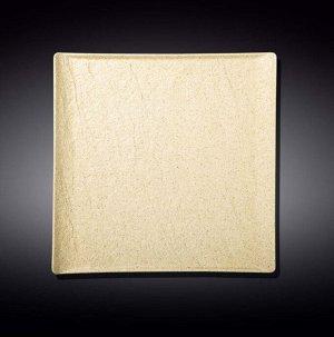 WILMAX SANDSTONE Тарелка квадратная 21,5х21,5см, цв.песочный WL-661306/A