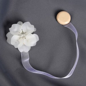 Подхват для штор «Нежный цветок». d = 6 см. цвет белый
