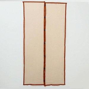 Сетка антимоскитная на магнитах, 100?210 см, цвет коричневый