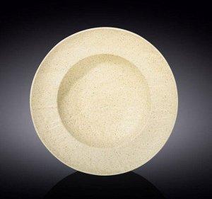 WILMAX SANDSTONE Тарелка круглая, глубокая 25,5см, цв.песочный WL-661330/A