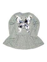 Платье для девочки серый звезда