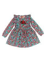Платье для девочки бирюзовый