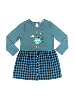 Платье для девочки (синий, монстр)