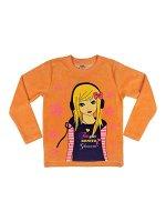 Джемпер для девочки (оранжевый)