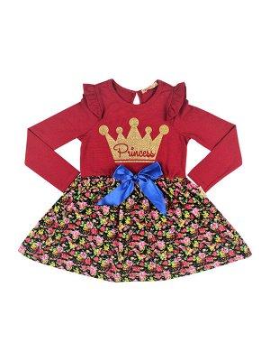 Платье для девочки малиново-красный