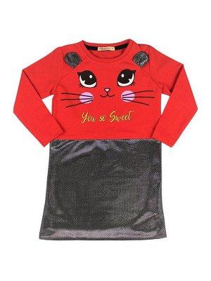 Платье для девочек красный