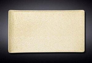 WILMAX SANDSTONE Тарелка прямоугольная 38х24,5см, цв.песочный WL-661311/A