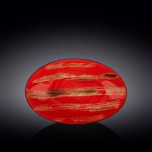 WILMAX SCRATCH Блюдо 30х19,5х7см, цв.красный WL-668241 / A