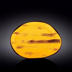 WILMAX SCRATCH Блюдо 33х24,5см, цв.желтый WL-668442 / A