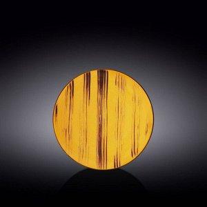 WILMAX SCRATCH Тарелка обеденная 18см, цв.желтый WL-668411 / A