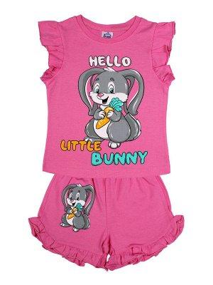 Комплект для девочки (футболка,шорты)(розовый)