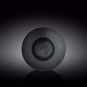 WILMAX SLATESTONE Тарелка круглая, глубокая 22,5см, цв.черный WL-661113 / A