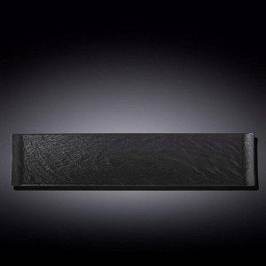 WILMAX SLATESTONE Тарелка прямоугольная 46,5х9,5см, цв.черный WL-661103/A