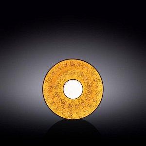 WILMAX SPLASH Тарелка десертная 14см, цв.желтый WL-667435 / B
