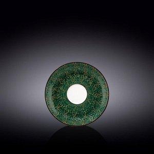 WILMAX SPLASH Тарелка десертная 14см, цв.зеленый WL-667535/B