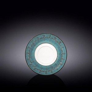 WILMAX SPLASH Тарелка десертная 16см, цв.синий WL-667639/A