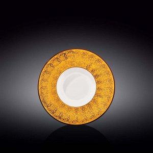 WILMAX SPLASH Тарелка обеденная 20см, цв.желтый WL-667422 / A