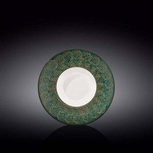WILMAX SPLASH Тарелка обеденная 20см, цв.зеленый WL-667522 / A